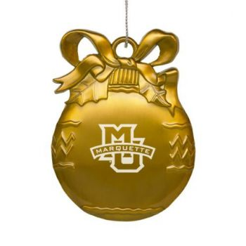 Marquette University - Pewter Christmas Tree Ornament - Gold