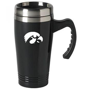 University of Iowa-16 oz. Stainless Steel Mug-Black