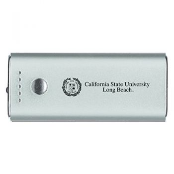 Long Beach State University -Portable Cell Phone 5200 mAh Power Bank Charger -Silver