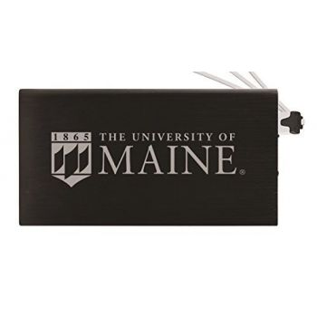 8000 mAh Portable Cell Phone Charger-University of Maine-Black
