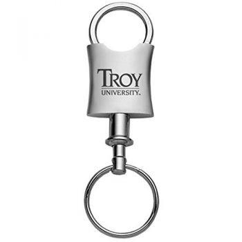Troy University-Trillium Valet Key Tag-Silver