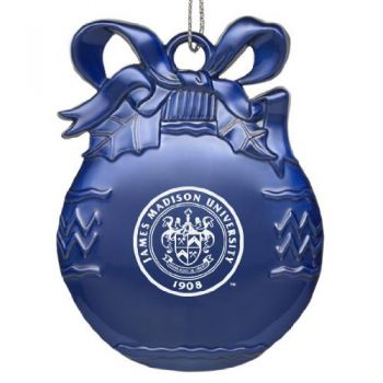 James Madison University - Pewter Christmas Tree Ornament - Blue