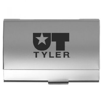 University of Texas at Tyler - Two-Tone Business Card Holder - Silver