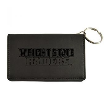 Velour ID Holder-Wright State university-Black