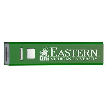 Eastern Michigan University - Portable Cell Phone 2600 mAh Power Bank Charger - Green