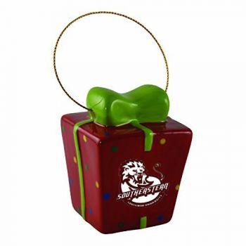 Southeastern Louisiana University-3D Ceramic Gift Box Ornament