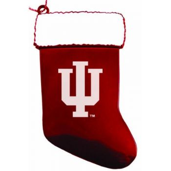 Indiana University - Christmas Holiday Stocking Ornament - Red