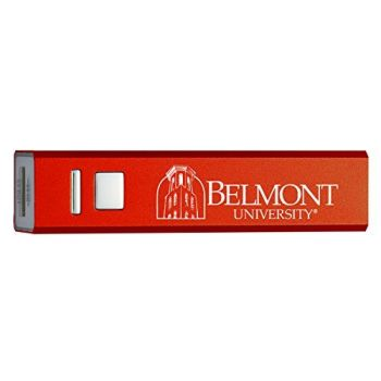 Belmont University - Portable Cell Phone 2600 mAh Power Bank Charger - Red