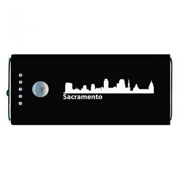 Quick Charge Portable Power Bank 5200 mAh - Sacramento City Skyline