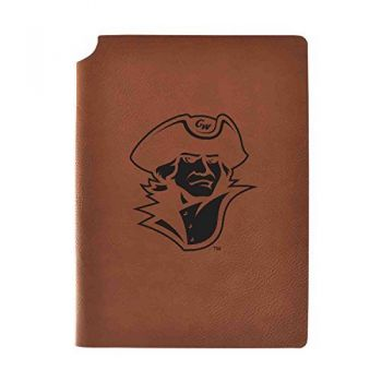 George Washington University Velour Journal with Pen Holder|Carbon Etched|Officially Licensed Collegiate Journal|