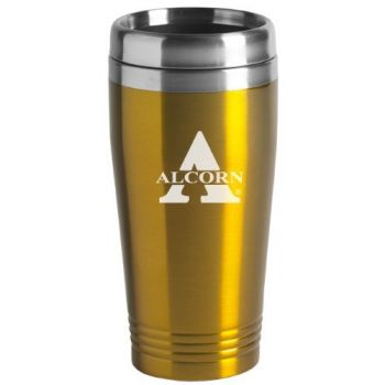 Alcorn State University - 16-ounce Travel Mug Tumbler - Gold