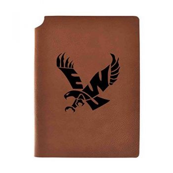 Eastern Washington University Velour Journal with Pen Holder|Carbon Etched|Officially Licensed Collegiate Journal|