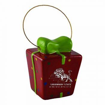 Savannah State University-3D Ceramic Gift Box Ornament