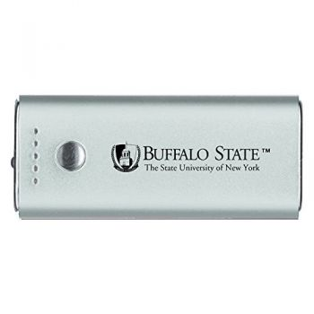 Buffalo State University - The State University of New York -Portable Cell Phone 5200 mAh Power Bank Charger -Silver