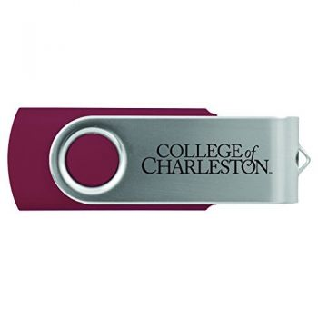 College of Charleston-8GB 2.0 USB Flash Drive-Burgundy