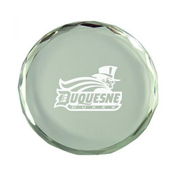 Duquesne University-Crystal Paper Weight