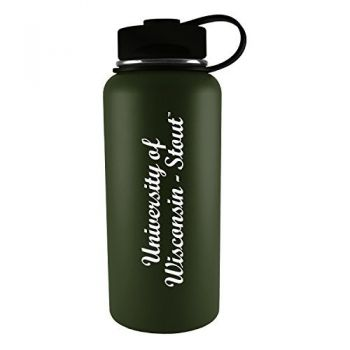 University of Wisconsin-Stout-32 oz. Travel Tumbler-Gun Metal