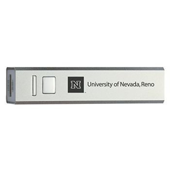 University of Nevada, Reno - Portable Cell Phone 2600 mAh Power Bank Charger - Silver