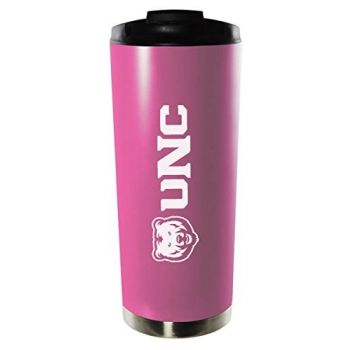 University of Northern Colorado-16oz. Stainless Steel Vacuum Insulated Travel Mug Tumbler-Pink