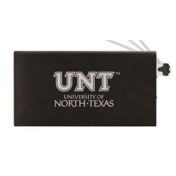 8000 mAh Portable Cell Phone Charger-University of North Texas-Black