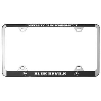 University of Wisconsin-Stout-Metal License Plate Frame-Black