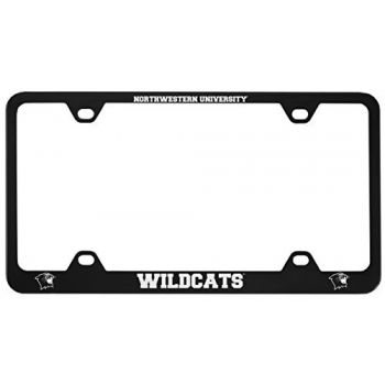 Northwestern University -Metal License Plate Frame-Black
