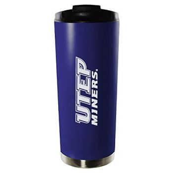 University of Texas at El Paso-16oz. Stainless Steel Vacuum Insulated Travel Mug Tumbler-Blue