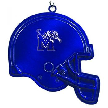 University of Memphis - Christmas Holiday Football Helmet Ornament - Blue