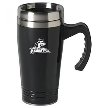 Wright State University-16 oz. Stainless Steel Mug-Black