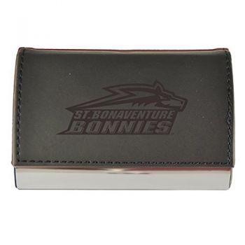 Velour Business Cardholder-St. Bonaventure Bonnies -Black