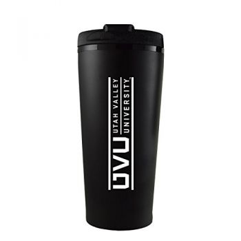 Utah Valley University -16 oz. Travel Mug Tumbler-Black