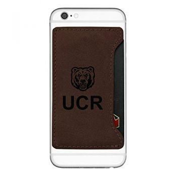University of California, Riverside-Cell Phone Card Holder-Brown