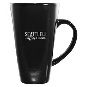 Seattle University -16 oz. Tall Ceramic Coffee Mug-Black