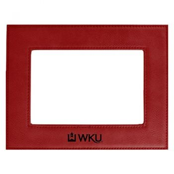 Western Kentucky University-Velour Picture Frame 4x6-Red
