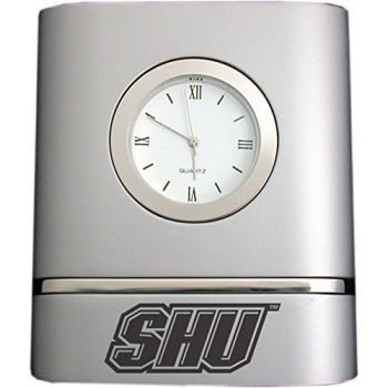 Sacred Heart University- Two-Toned Desk Clock -Silver