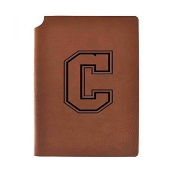 College of Charleston Velour Journal with Pen Holder|Carbon Etched|Officially Licensed Collegiate Journal|