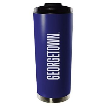 Georgetown University-16oz. Stainless Steel Vacuum Insulated Travel Mug Tumbler-Blue