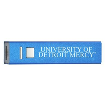 University of Detroit Mercy - Portable Cell Phone 2600 mAh Power Bank Charger - Blue