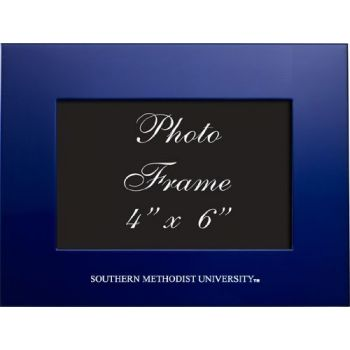 Southern Methodist University - 4x6 Brushed Metal Picture Frame - Blue