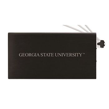 8000 mAh Portable Cell Phone Charger-Georgia State University -Black
