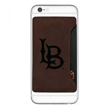 Long Beach State University -Cell Phone Card Holder-Brown