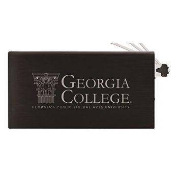 8000 mAh Portable Cell Phone Charger-Georgia College-Black