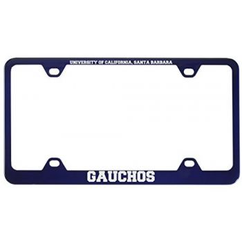 University of California, Santa Barbara-Metal License Plate Frame-Blue