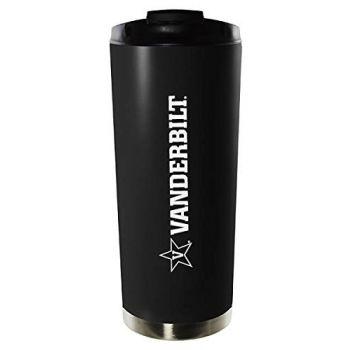 Vanderbilt University-16oz. Stainless Steel Vacuum Insulated Travel Mug Tumbler-Black