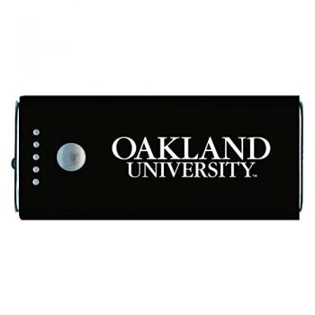 Oakland University -Portable Cell Phone 5200 mAh Power Bank Charger -Black