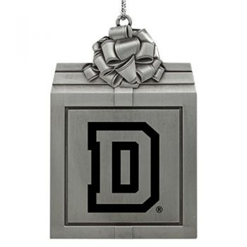 Dartmouth College-Pewter Christmas Holiday Present Ornament-Silver