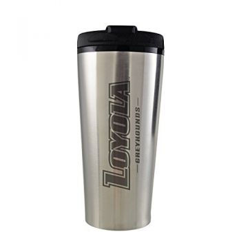 Loyola University Maryland-16 oz. Travel Mug Tumbler-Silver