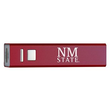 New Mexico State University - Portable Cell Phone 2600 mAh Power Bank Charger - Burgundy