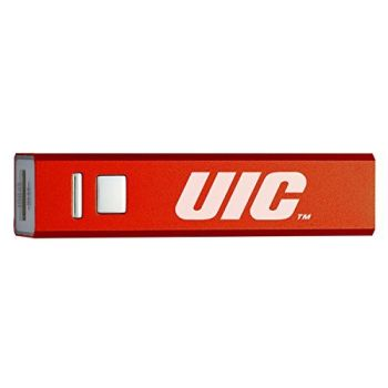 University of Illinois at Chicago - Portable Cell Phone 2600 mAh Power Bank Charger - Red