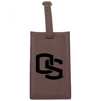 Oregon State University -Leatherette Luggage Tag-Brown